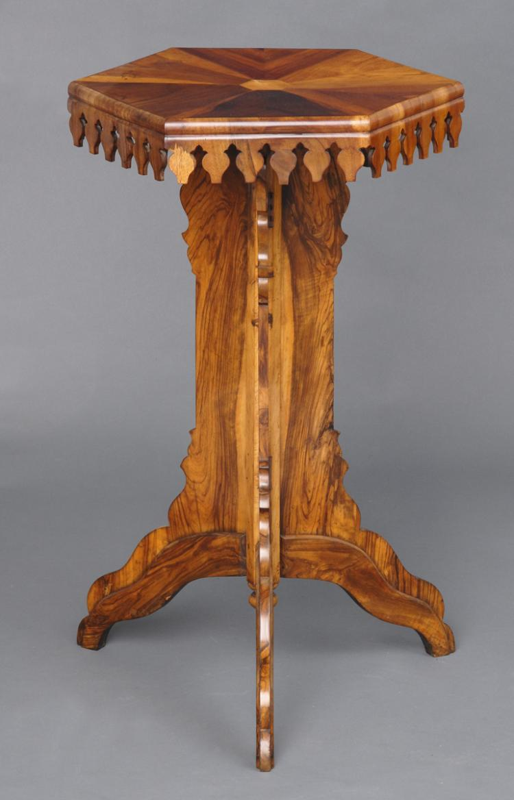 Specimen Wood Pedestal Table