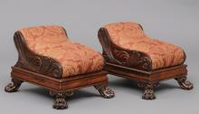 Pair English Regency Footstools