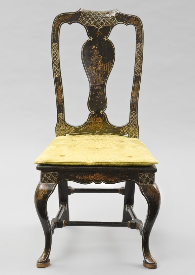 Venetian antique chinoiserie side chair