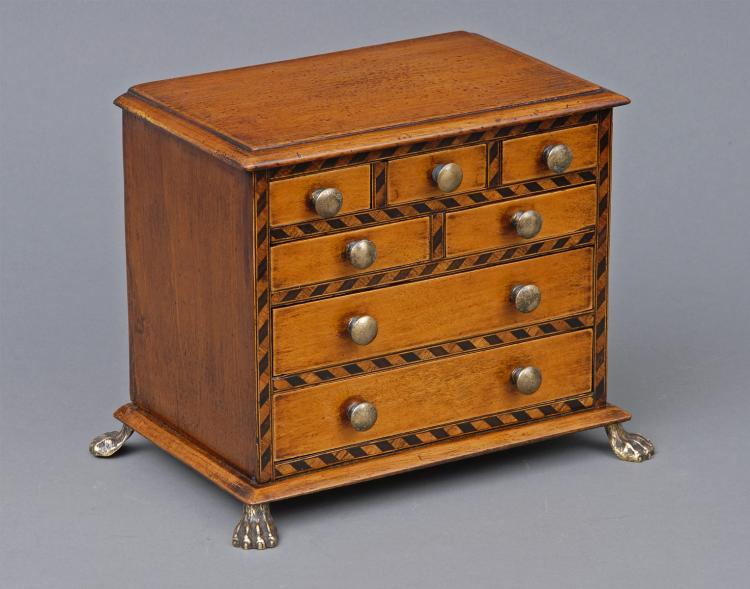 Antique Miniature Chest, Circa 1850