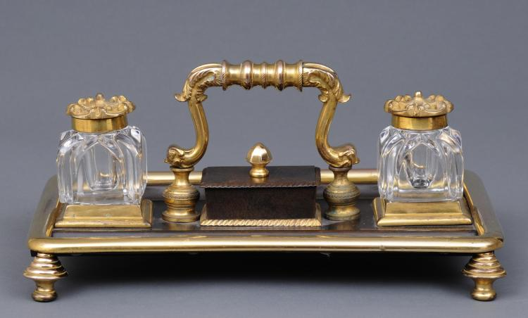 William IV Gilded Inkstand, Circa 1830