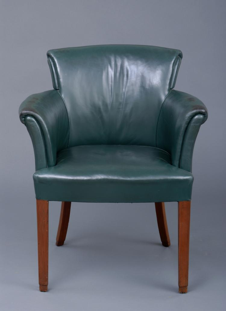 English Art Deco Desk Chair, Circa 1920