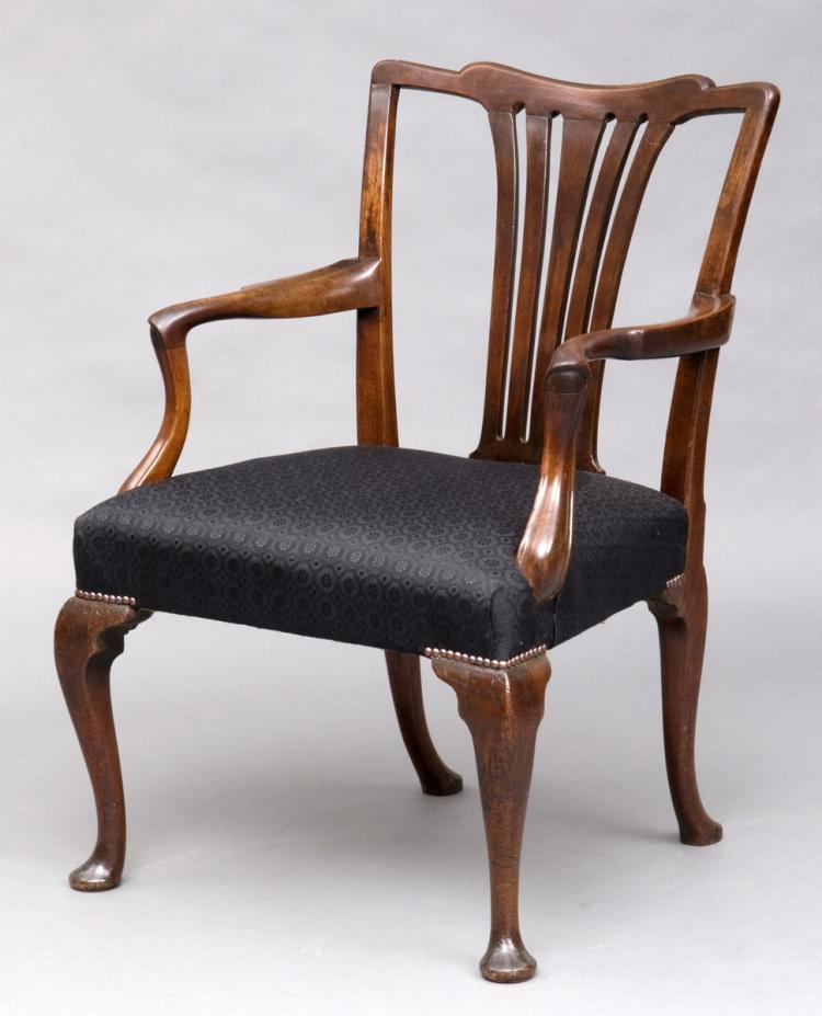 English George II Chippendale Armchair, 18th Century