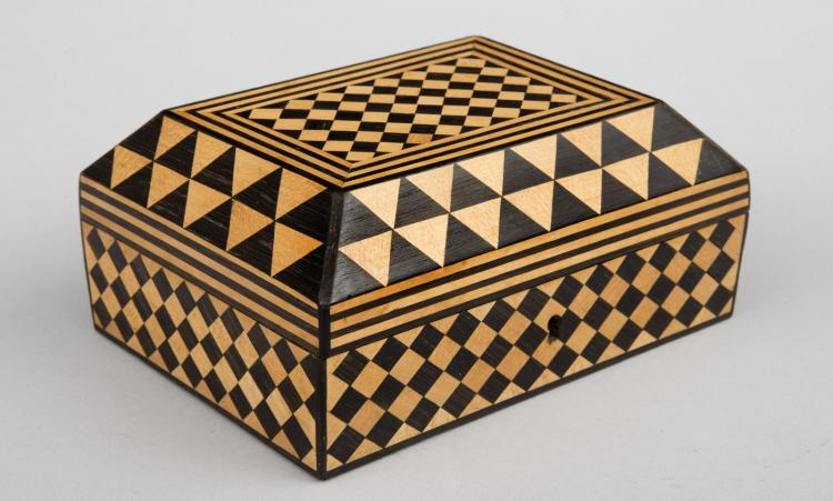 Satinwood & Rosewood Parquetry Box, 18th Century