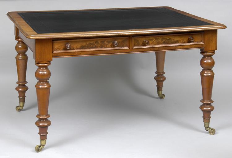 English Antique Mahogany Writing Table
