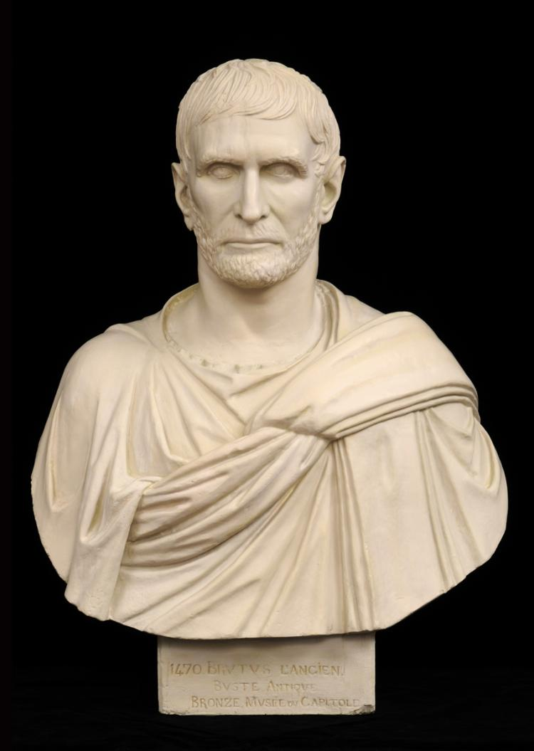 Grand Tour Plaster Bust of Brutus