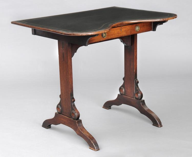 English Antique Kidney Shaped Writing Table