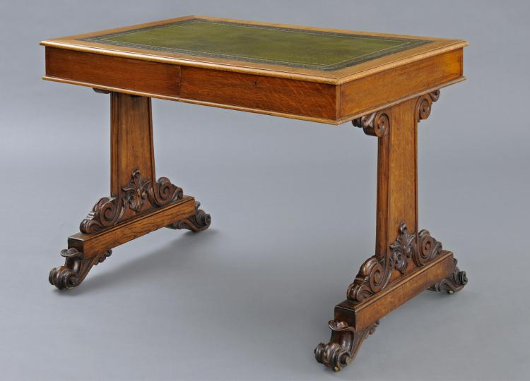 English Victorian Small Partners Writing Table