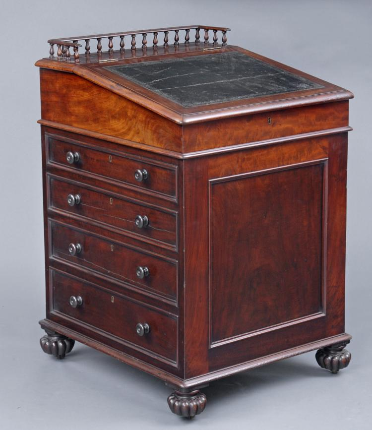 English Late Regency Period Davenport Desk