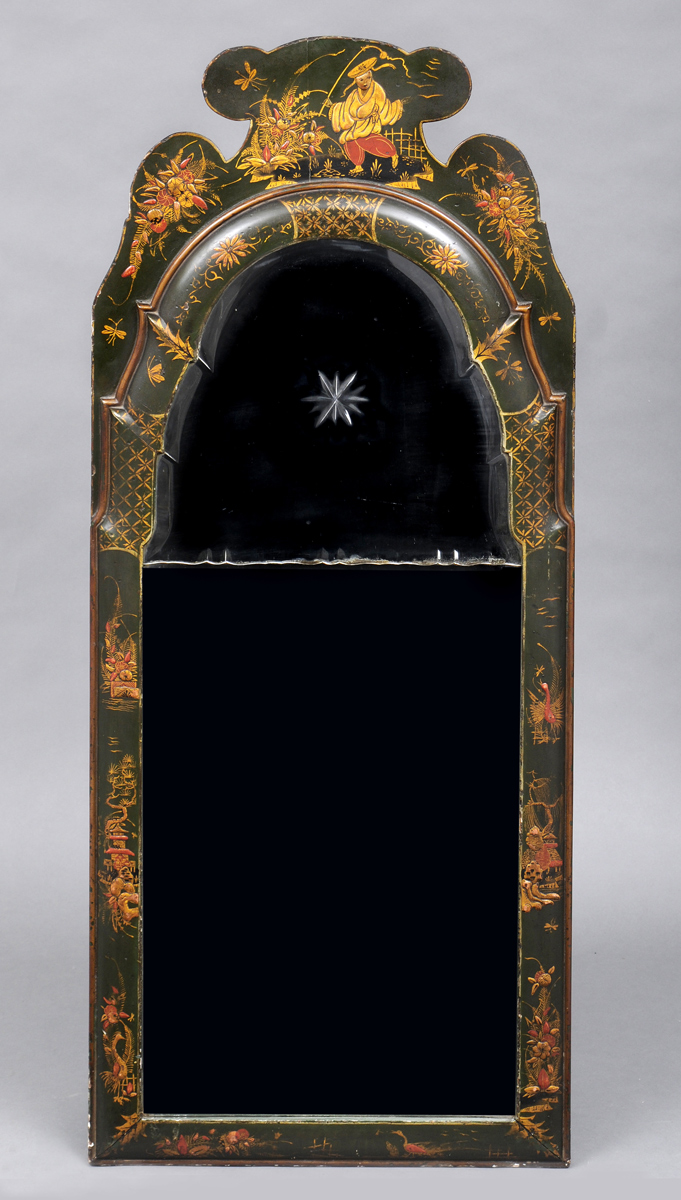 English Queen Anne Style Chinoiserie Mirror