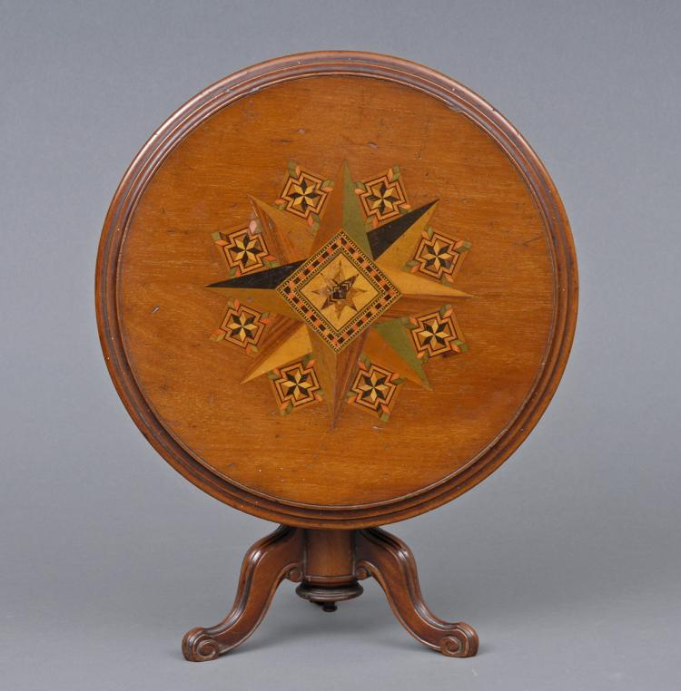 Miniature Tunbridgeware Tilt-top Table, Circa 1860