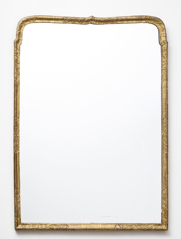 Fine Period Queen Anne Period Giltwood Mirror
