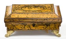 Regency Penwork Box with Chinoiserie Decoration