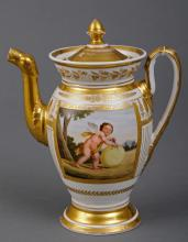 Paris Porcelain Coffee Pot Circa 1810