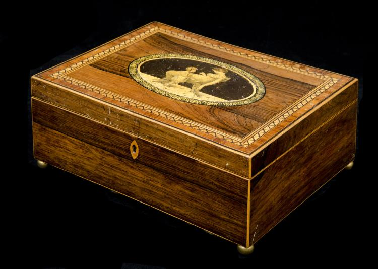 English Regency Rosewood Inlaid Box
