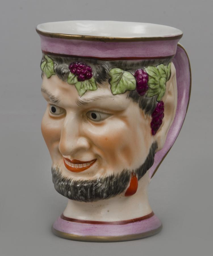 English Staffordshire Bacchus Satyr Mug