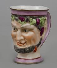 English Staffordshire Bacchus Satyr Mug