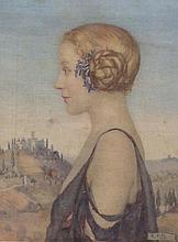 ELEANOR FORTESCUE-BRICKDALE, PRE-RAPHAELITE, 1871 - 1945, A SILK SCREEN POR