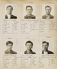 (CALFORNIA -- CRIME) Album containing 966 mug shots of male criminals in Folsom Prison during the height of the Depression.