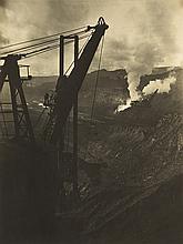 BOURKE-WHITE, MARGARET (1904-1971) Derrick and smoke.