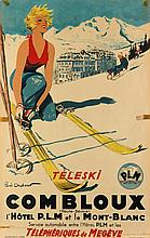 PAUL ORDNER (1900-1969). COMBLOUX / TÉLESKI. Circa 1935. 37x24 inches, 95x61 cm. M. Déchaux, Paris.