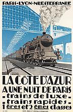 EMIL ANDRÉ SCHEFER (1876-1942). LA CÔTE D''AZUR. 1926. 42x27 inches, 106x70 cm. Lucien Serre, Paris.