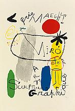 JOAN MIRÓ (1893-1983) & PIERRE ALECHINSKY (1927- ). [ART EXHIBITIONS.] Two posters. 1950, 1966. Sizes vary.
