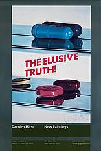 DAMIEN HIRST (1965- ). THE ELUSIVE TRUTH! Two posters. 2005. Each 38x26 inches, 98x66 cm.