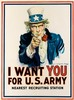 JAMES MONTGOMERY FLAGG (1870-1960). I WANT YOU FOR U.S. ARMY. 1917. 40x29 inches, 102x75 cm. Leslie-Judge Co., New York., James Montgomery Flagg, $3,000