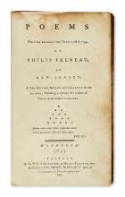 (AMERICAN REVOLUTION--HISTORY.) Freneau, Philip. Poems Written between the Years 1768 & 1794.