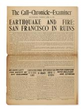 (CALIFORNIA.) The combined Call-Chronicle-Examiner, issued immediately following the San Francisco 1906 earthquake.