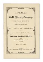 (COLORADO.) Holman Gold Mining Company, Capital $300,000.