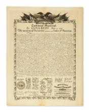 (DECLARATION OF INDEPENDENCE.) 1776-1876 Centennial Memorial. In Congress, July 4, 1776.