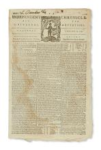 (EARLY AMERICAN IMPRINTS.) Group of 18th-century American newspapers.