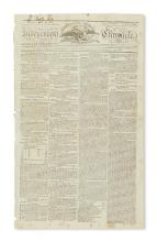 (LEWIS AND CLARK.) Issue of the Independent Chronicle featuring the first report from the Lewis & Clark Expedition.
