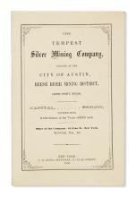 (NEVADA.) Group of three silver mining pamphlets, including an unrecorded prospectus.
