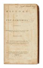 (NEW HAMPSHIRE.) Belknap, Jeremy. The History of New-Hampshire.