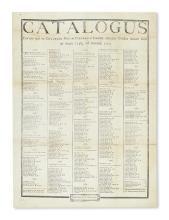 (NEW JERSEY.) Catalogus Eorum qui in Collegio Novae Caesareae . . . Annum 1770.