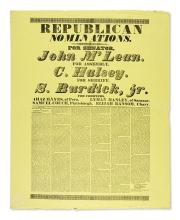 (NEW YORK.) Pair of large political broadsides.