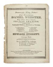 (PRESIDENTS--1836 CAMPAIGN.) Democratic Whig Ticket! For President, Daniel Webster,
