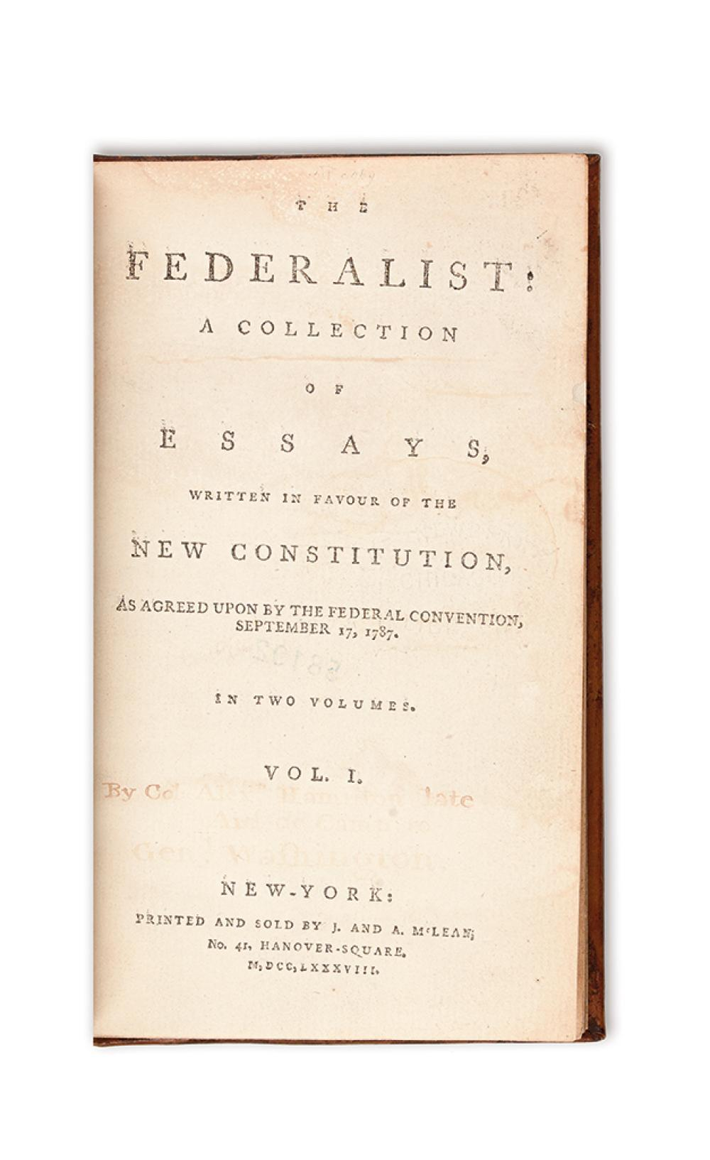 a collection of essays defending the constitution Chapter 7 section 3: a new plan of government i roots of the constitution (pages 207–208) a the framers of the constitution had studied government, history, and.