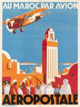 JEAN JACQUELIN (1905-1989). AU MAROC PAR AVION / AEROPOSTALE. 1930. 31x23 inches, 80x60 cm. Editions Step, Paris.