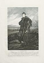 (AMERICAN REVOLUTION--PRINTS.) Charon, Louis-François, engraver; after Martinet. Lafayette, Lieutenant général, naquit à Chavagnac.
