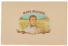 (BASEBALL.) Artwork for a cigar box label depicting Hans Wagner.