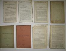(AMERICAN INDIANS.) Group of 9 government documents.