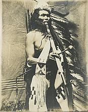 (AMERICAN INDIANS--PHOTOGRAPHS.) Moorhouse, Lee. Group of portraits and views, most from the Umatilla Reservation.