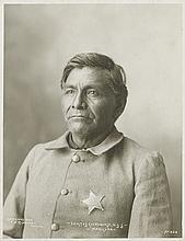 (AMERICAN INDIANS--PHOTOGRAPHS.) Rinehart, Frank A. Erastus Cheroquese, U.S.S., Maricopa.