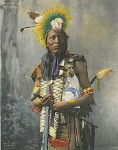 (AMERICAN INDIANS--PHOTOGRAPHS.) Heyn, [Herman.] Kills on Horseback, Ogallala Sioux.