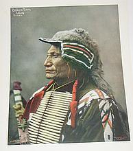(AMERICAN INDIANS--PRINTS.) Heyn, [Herman]; photographer. Group of 5 color prints of Heyn's portraits.
