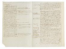 (AMERICAN REVOLUTION.) Notes on a loan agreement between the Continental Congress and Dutch merchants John de Neufville & Son.